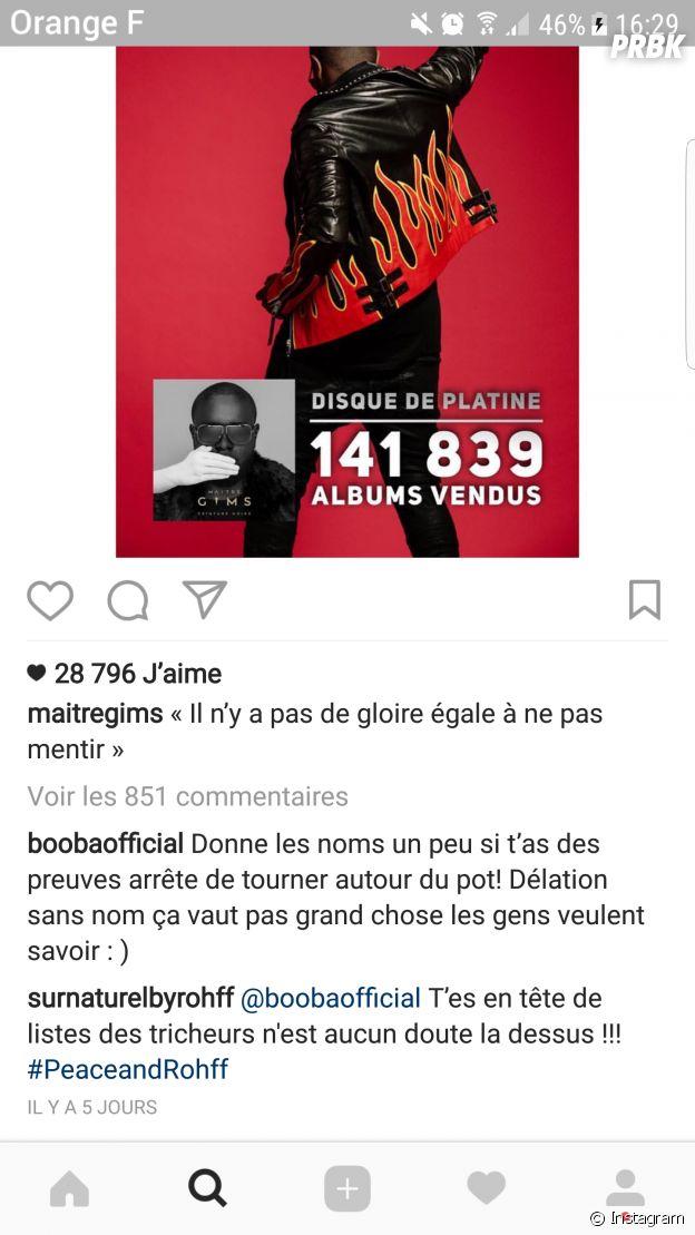 Booba vs Maitre Gims : clash sur fond d'accusations de triche de streams