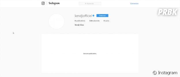 Kendji Girac a supprimé toutes les photos de son compte Instagram