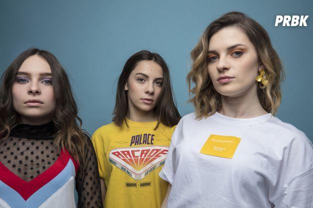 Jade, Lynn, Léana forment le trio Aöme.