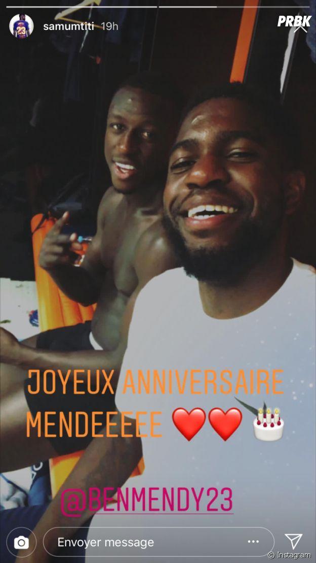 Samuel Umtiti souhaite un joyeux anniversaire à Benjamin Mendy