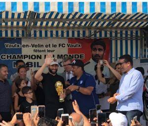 Nabil Fekir de retour à Vaulx-en-Velin