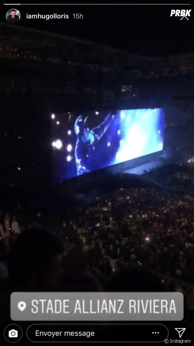 Hugo Lloris au concert de Beyoncé avec sa femme Marine ce mardi 17 juillet 2018
