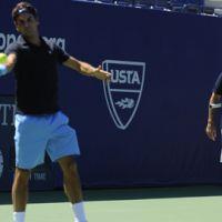 US Open 2010 ... Roger Federer à l'entraînement ... les photos