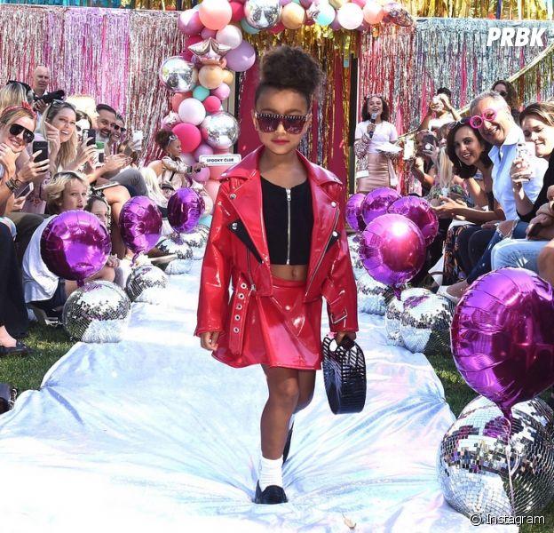 Kim Kardashian : sa fille North West défile pour la première fois