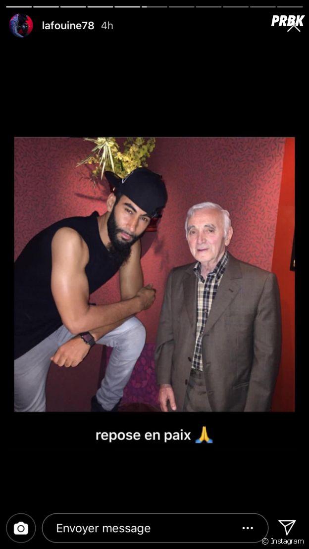 Charlez Aznavour mort : La Fouine lui rend hommage