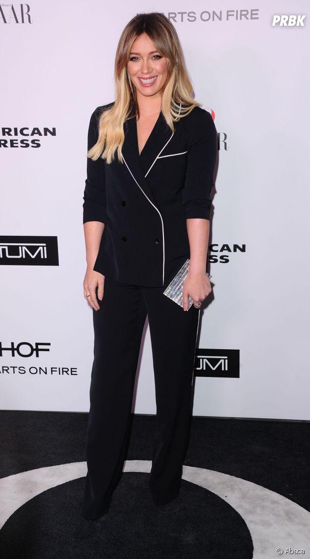"""Hilary Duff a craqué pour la tendance """"sleepwear""""."""