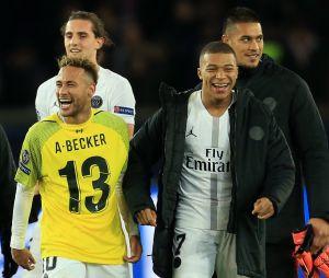 PSG-Liverpool (2-1) : Neymar, Kylian Mbappé... Les joueurs du club parisiens célèbrent leur victoire.