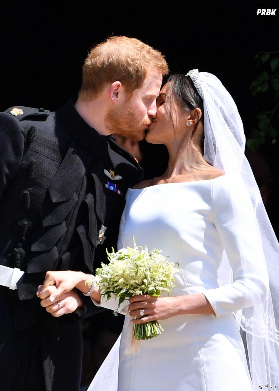Meghan Markle et le Prince Harry lors de leur mariage le 19 mai 2018