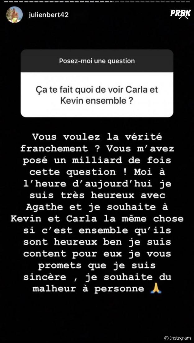 Carla Moreau et Kevin Guedj de nouveau en couple : Julien Bert réagit