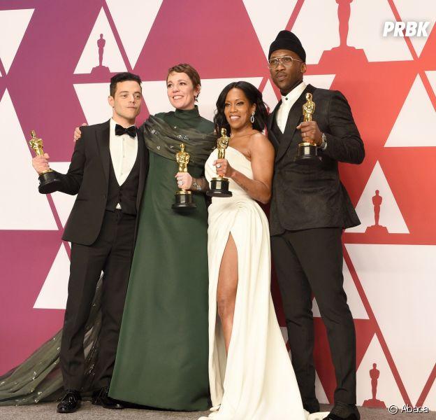 Rami Malek, Olivia Colman, Regina King et Mahershala Ali gagnants aux Oscars 2019 le 24 février à Los Angeles