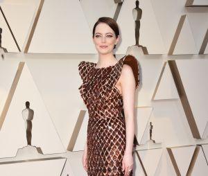 Emma Stone sur le tapis rouge des Oscars 2019 le 24 février à Los Angeles