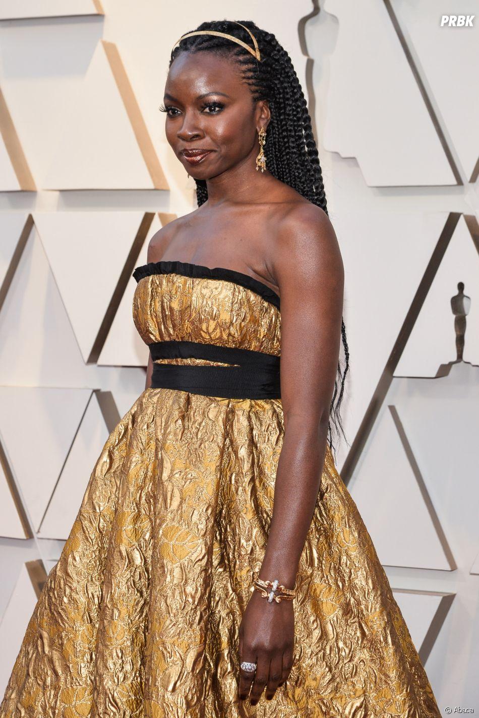 Danai Gurira sur le tapis rouge des Oscars 2019 le 24 février à Los Angeles