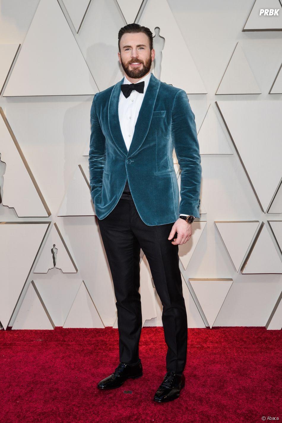 Chris Evans sur le tapis rouge des Oscars 2019 le 24 février à Los Angeles