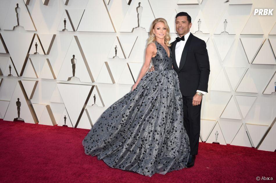 Kelly Ripa et Mark Consuelos sur le tapis rouge des Oscars 2019 le 24 février à Los Angeles