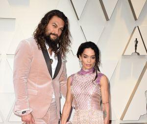 Jason Momoa et Lisa Bonet sur le tapis rouge des Oscars 2019 le 24 février à Los Angeles