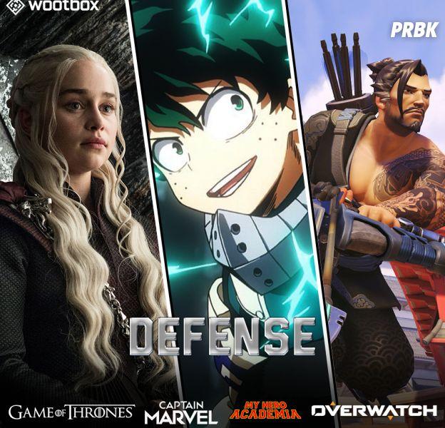 Captain Marvel, My Hero Academia... craquez pour la Wootbox Défense
