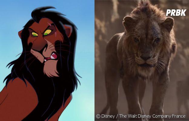 Le Roi Lion : Scar dans le dessin-animé vs dans le film