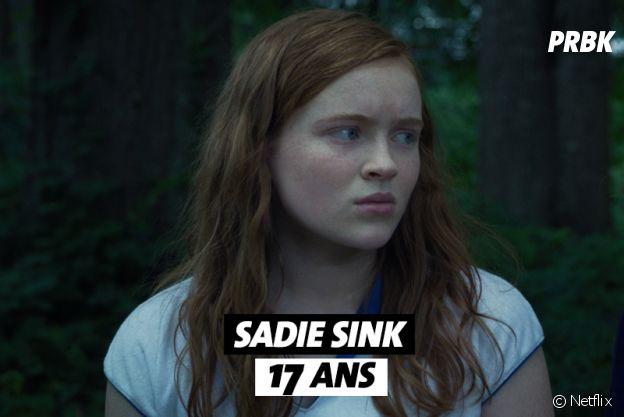 Stranger Things : l'âge de Sadie Sink (Max)