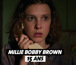 Stranger Things : l'âge de Millie Bobby Brown (Eleven)