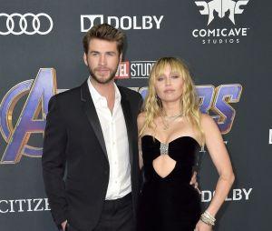 Liam Hemsworth et Miley Cyrus lors de l'avant-première d'Avengers : Endgame en avril 2019