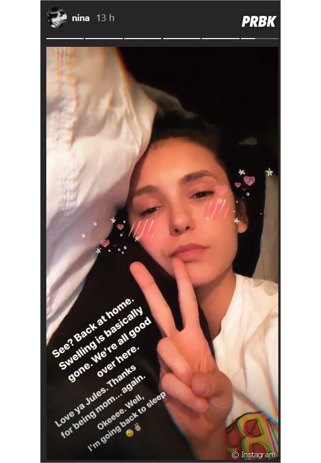 Nina Dobrev de retour chez elle après son hospitalisation
