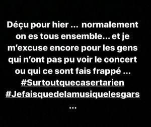 Jul touché par les fans agressés à son concert de l'AccorHotels Arena à Paris : il réagit