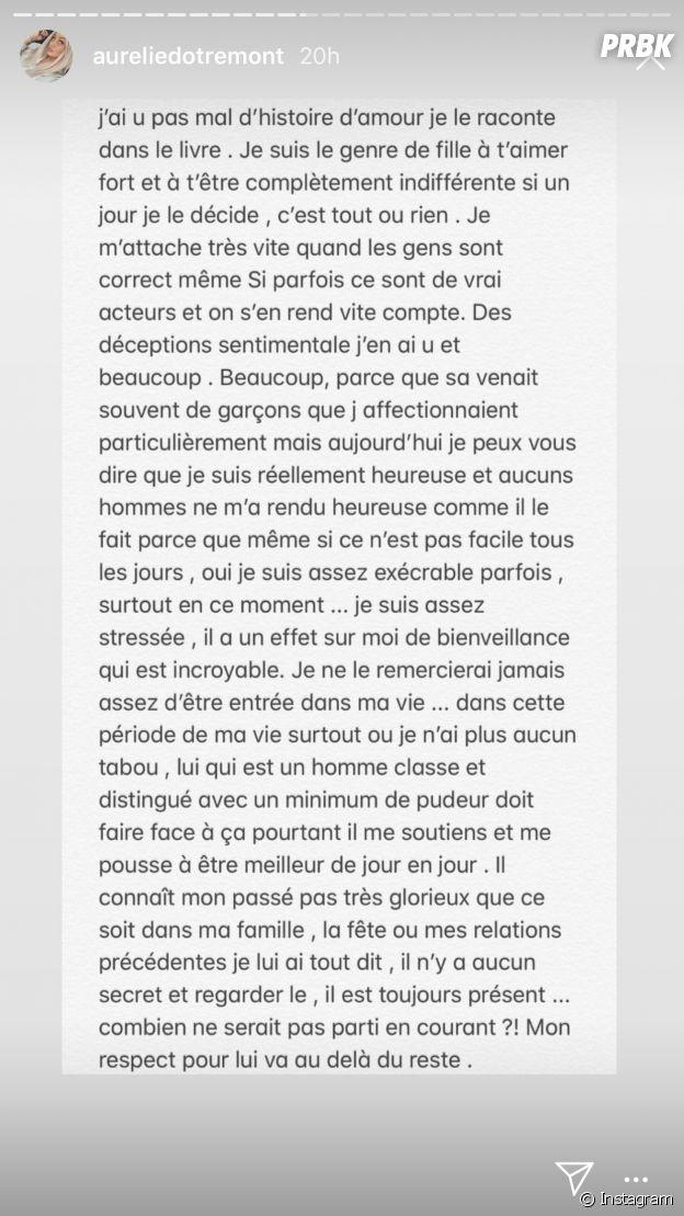 Aurélie Dotremont adresse un beau message à son petit ami