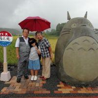 Mon Voisin Totoro : des grands-parents construisent l'arrêt de bus du film pour leurs petits-enfants