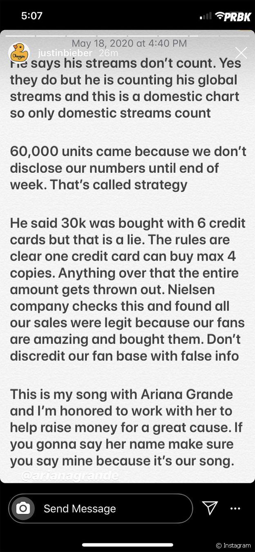 """Justin Bieber et Ariana Grande : 6ix9ine les accuse d'avoir """"acheté"""" leur numéro 1 Billboard, ils répondent"""
