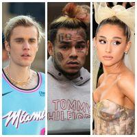 """Justin Bieber et Ariana Grande : 6ix9ine les accuse de triche pour """"Stuck with U"""", ils répondent"""