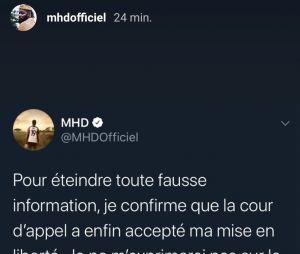 MHD libéré de prison ? Il confirme et clame son innocence