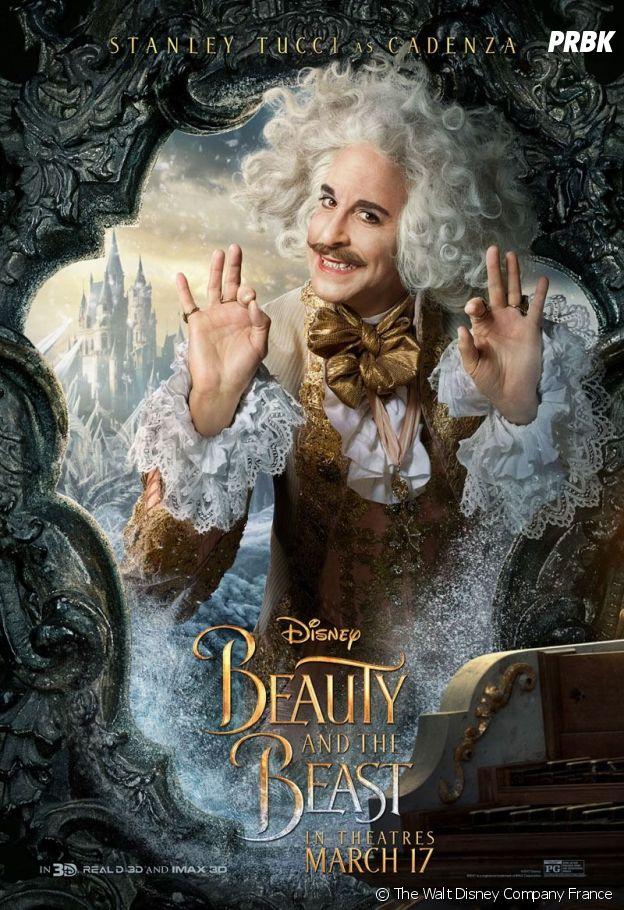 Stanley Tucci dans La Belle et la Bête