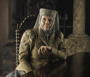 Diana Rigg dans le rôle d'Olenna Tyrell dans Game of Thrones