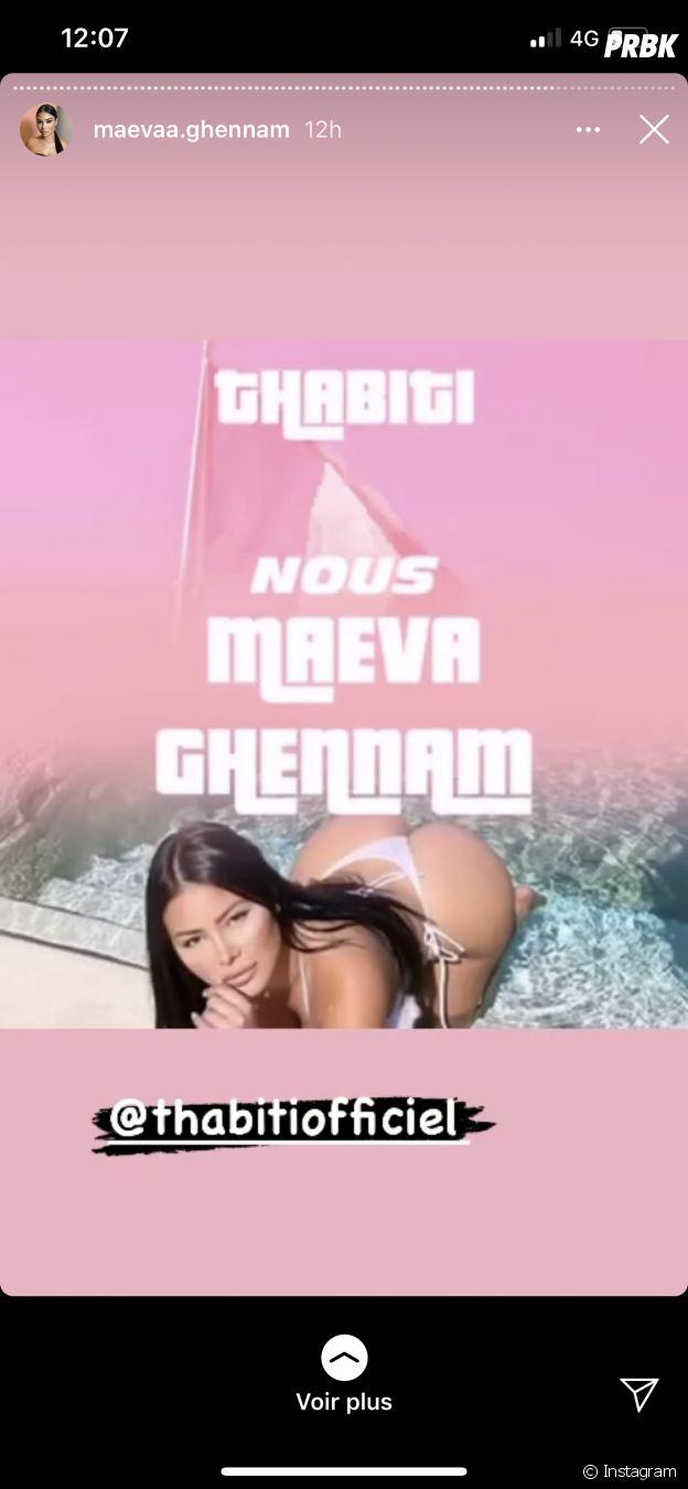 Maeva Ghennam (Les Marseillais VS Le reste du monde 5) valide le morceau de Thabiti