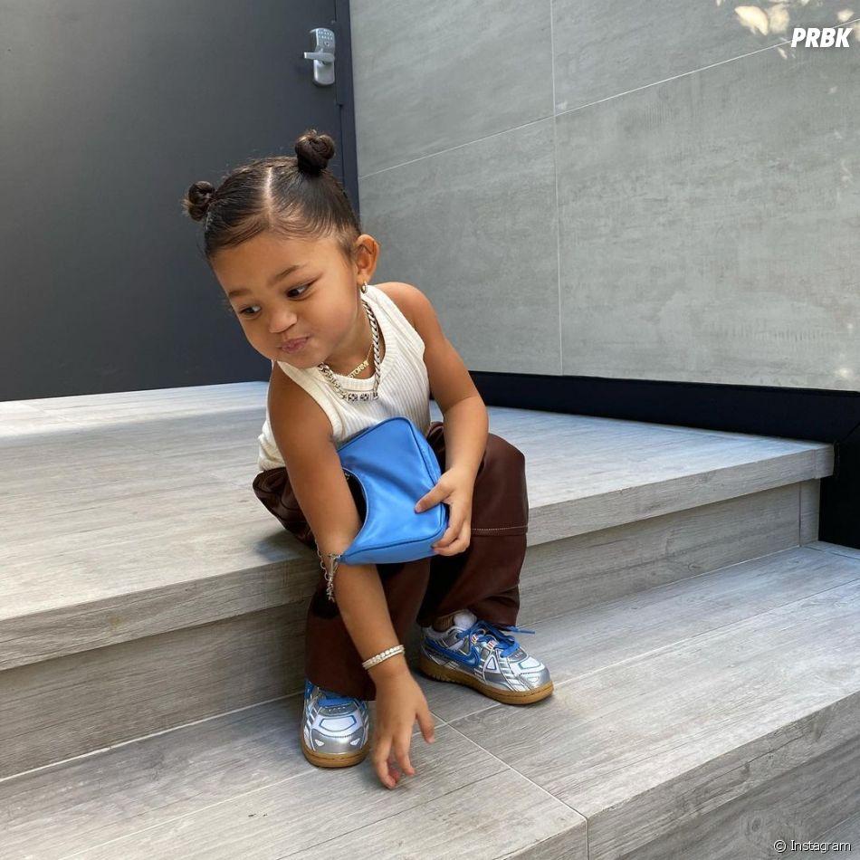 Kylie Jenner : sa fille Stormi poste avec un sac de luxe