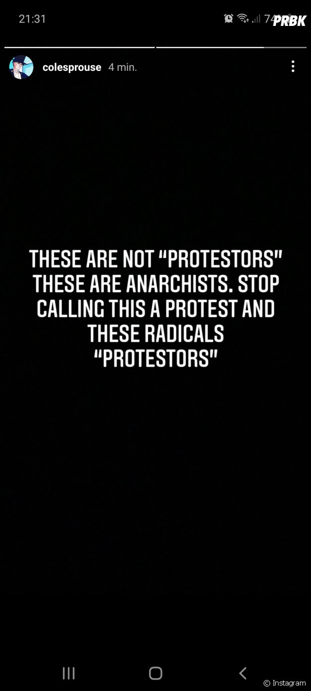Cole Sprouse réagit suite à l'invasion du Capitole par les supporters de Donald Trump