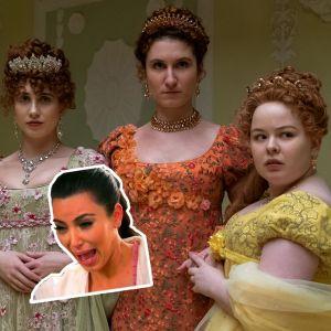 La Chronique des Bridgerton : les Featherington inspirées par les Kardashian, Kim n'en revient pas !
