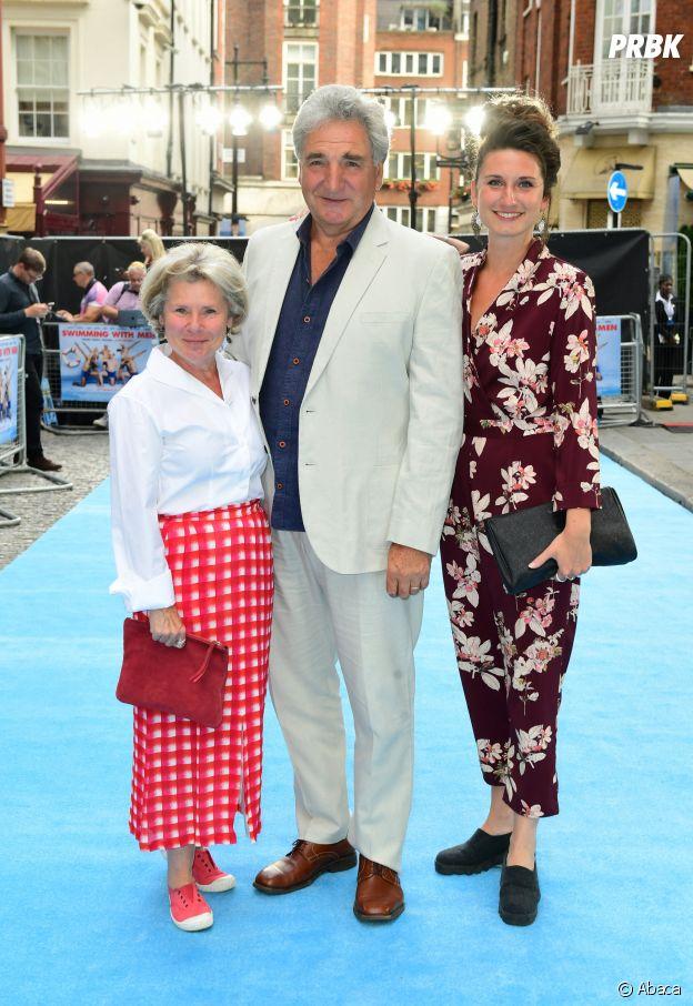 Bessie Carter avec ses parents Imelda Staunton et Jim Carter