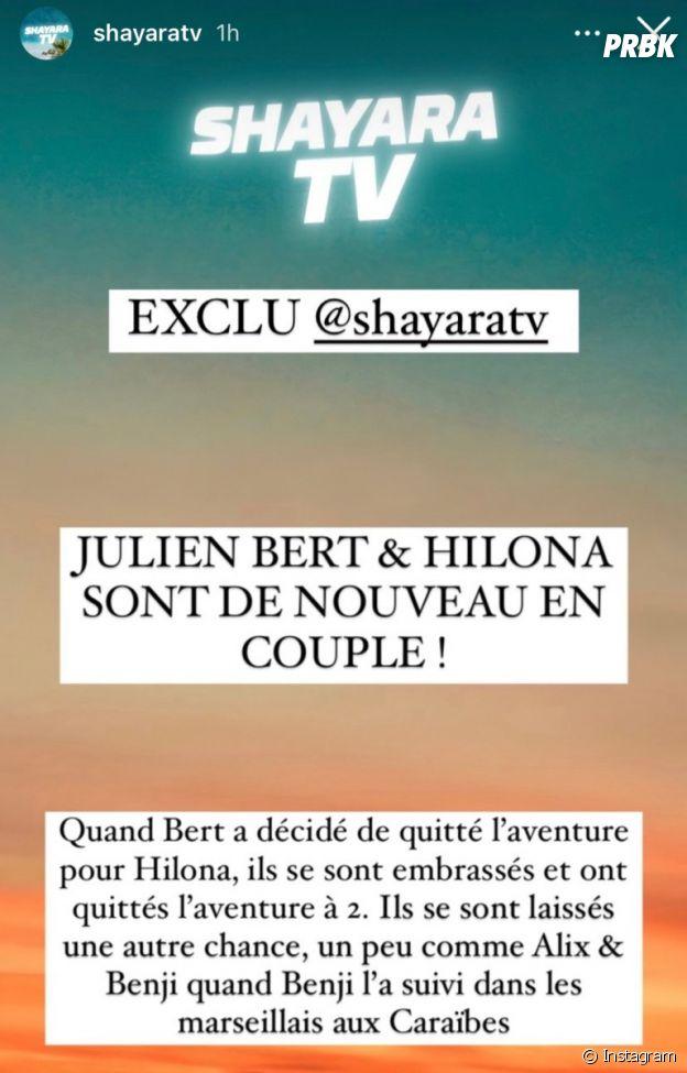 Les Marseillais vs le reste du monde 6 : Julien Bert et Hilona seraient de nouveau en couple