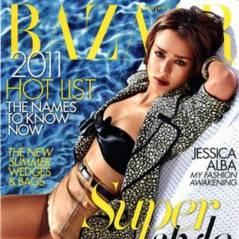 Jessica Alba ... Elle nous réchauffe en Une de Harper's Bazaar