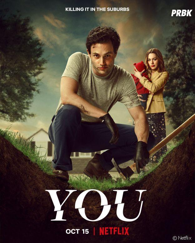 You saison 3 : Penn Badgley et Victoria Pedretti sur une affiche