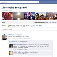 Fin de l'émission Carré ViiiP ... réaction de Christophe Beaugrand sur Facebook