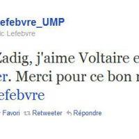 Frédéric Lefebvre ... Sa réaction sur Twitter après son lapsus Zadig & Voltaire