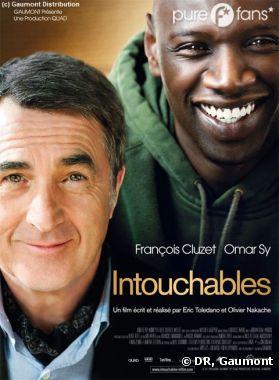 Affiche du film Intouchables avec Omar Sy et François Cluzet