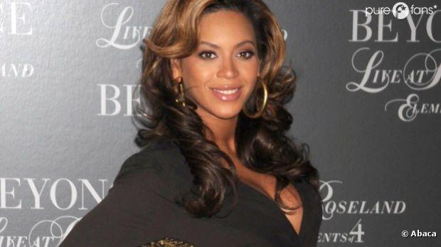 Beyoncé lors de la présentation de son parfum