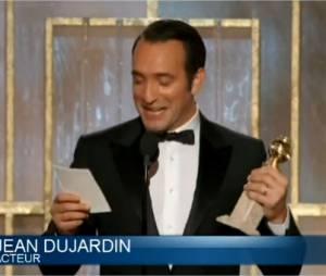 Jean Dujardin reçoit le Golden Globes du Meilleur acteur pour The Artist