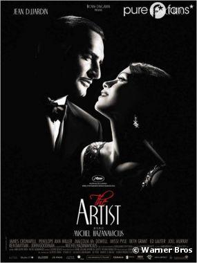 L'affiche du film The Artist, grand favori des Bafta 2012