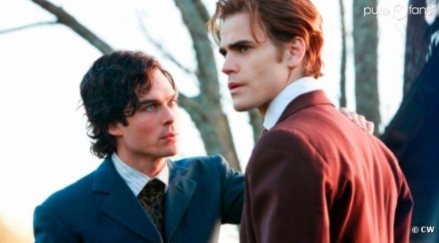 Stefan et Damon dans un épisode flashback de la saison 1