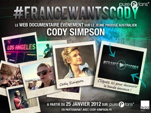 #FRANCEWANTSCODY arrive le 25 janvier