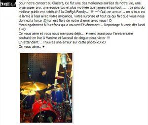 """La """"déclaration d'amour"""" d'Omega après son concert au Glazart"""